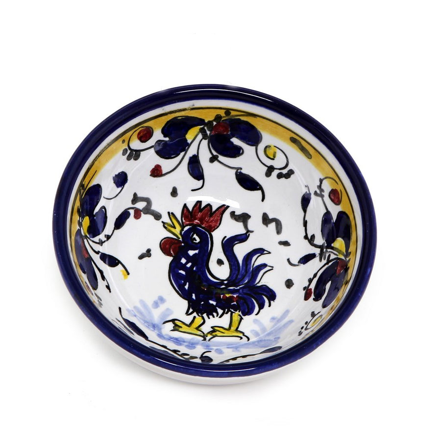 ORVIETO BLUE ROOSTER: Dipping/Condiment Small Bowl