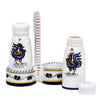 ORVIETO BLUE ROOSTER: Salt and Pepper Cruet