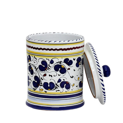 ORVIETO BLUE ROOSTER: Caffe' (Coffee) Container Canister