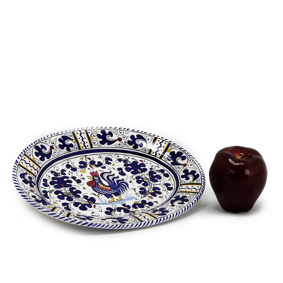 ORVIETO BLUE ROOSTER: Oval Plate