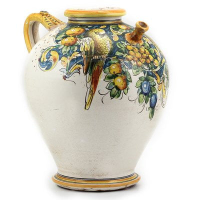 MAJOLICA MONTELUPO PAPPAGALLO: Large Pitcher