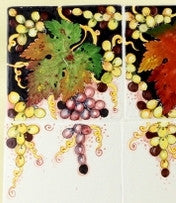 BACKSPLASH/MURAL: Toscana Grapes (Six Tiles) [R]