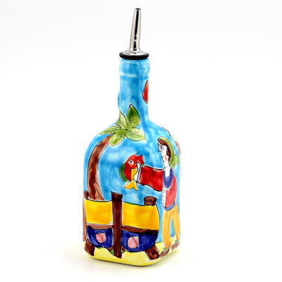 LA MUSA: Olive Oil Bottle Porticciolo Harbor Fisherman Boat