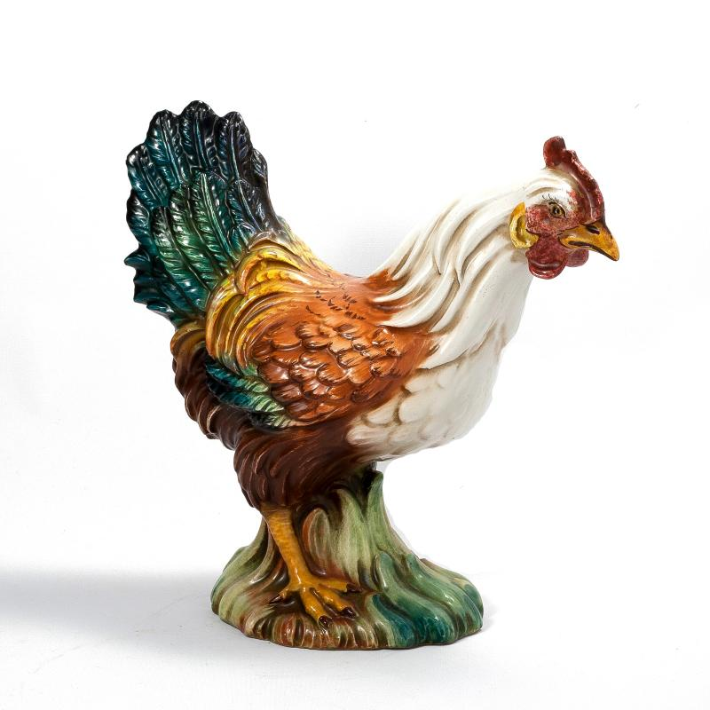 ROOSTER OF FORTUNE: Hand Painted Hen