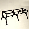 WROUGHT IRON BENCH WITH CERAMIC TOP: Straight model design (seats two)