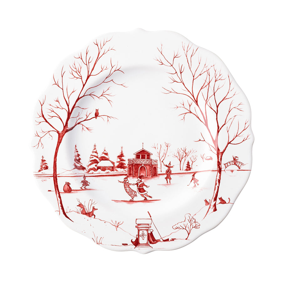 "JULISKA: Country Estate Winter Frolic ""The Claus' Christmas Day"" Ruby Dessert/Salad Plate"