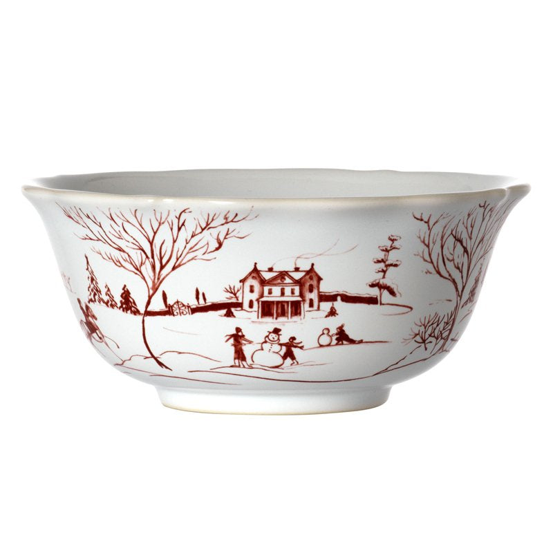JULISKA: Country Estate Winter Frolic Ruby Cereal/Ice Cream Bowl