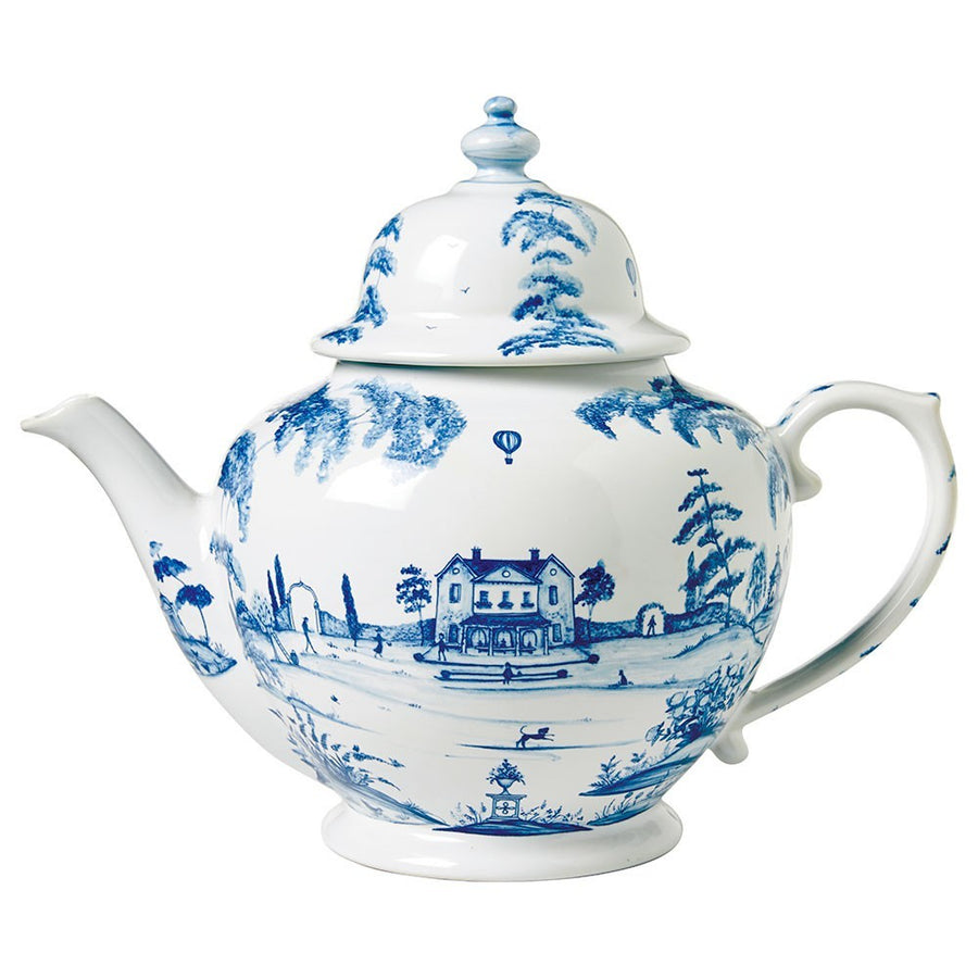 JULISKA: Country Estate Delft Blue Teapot Main House