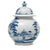 "JULISKA: Country Estate Delft Blue 10"" Lidded Ginger Jar Garden Follies"