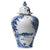 "JULISKA: Country Estate Delft Blue 17"" Lidded Ginger Jar Estate Grounds"
