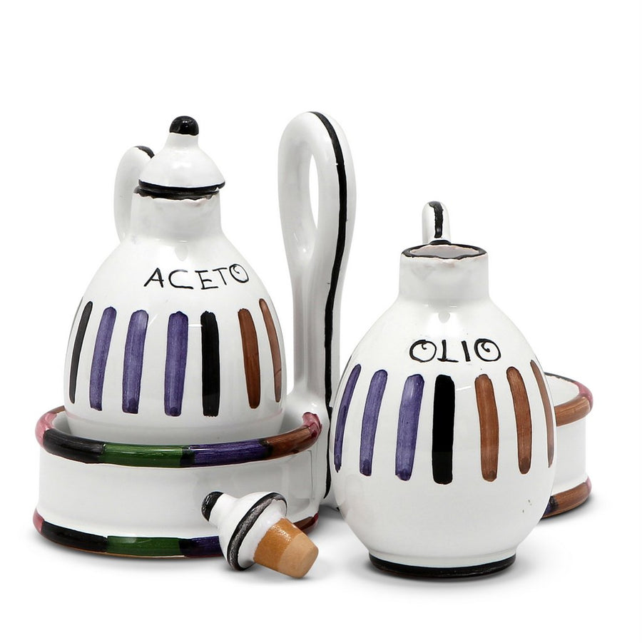 CIRCO: Oil and Vinegar cruet set with caddy [R]