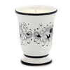 DERUTA CANDLES: Bell Cup Candle ~ Deruta Fondo Nero Design