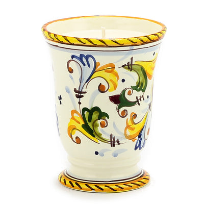 DERUTA CANDLES: Bell Cup Candle ~ Giglio Toscano Design