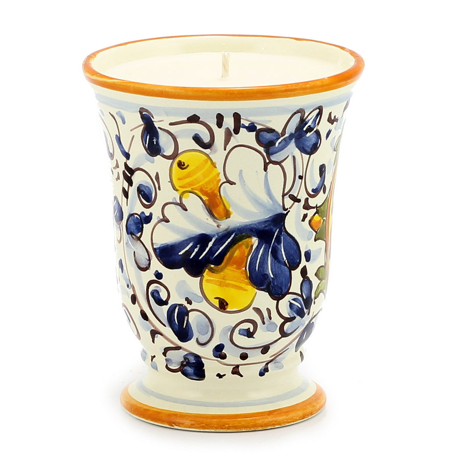 Bell Cup Candle - Majolica Medici Design