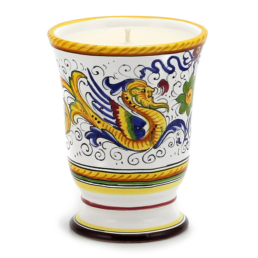 DERUTA CANDLES: Bell Cup Candle ~ Deruta Raffaellesco  Design