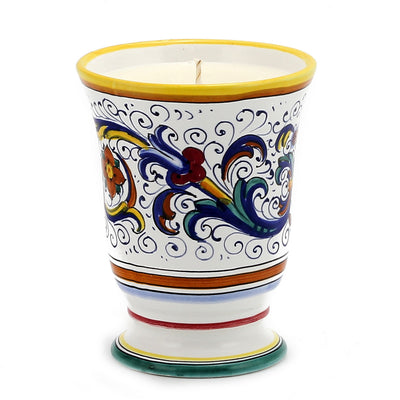DERUTA CANDLES: Bell Cup Candle ~ Ricco Deruta Design