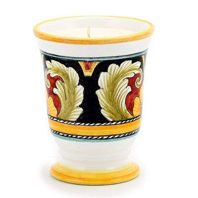 DERUTA CANDLES: Bell Cup Candle ~ Deruta Vario #4 Design