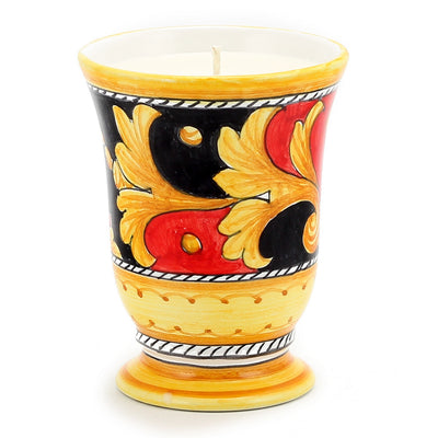 DERUTA CANDLES: Bell Cup Candle ~ Deruta Vario #5 Design