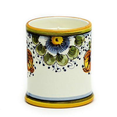 DERUTA CANDLES: Jar Cup Candle with lid ~ Frutta Toscana Design