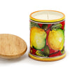 Jar Cup Candle with lid - Limoni Fondo Rosso Design