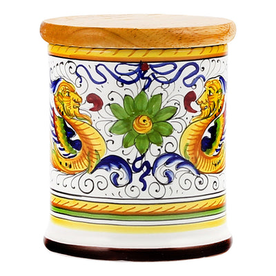 Jar Cup Candle with lid - Deruta Raffaellesco Design