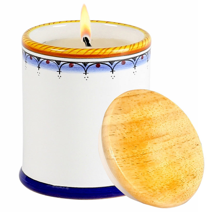 DERUTA CANDLES: Jar Cup Candle with lid ~ Deruta Vario Simple