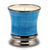 Garden MINT Scented Candle - Deluxe Precious Cup Coloris Celeste Design with Pure Platinum Rim (10 Oz)