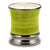 Italian BASIL Scented Candle - Deluxe Precious Cup Coloris Green Design with Pure Platinum Rim (10 Oz)