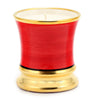 Deluxe Precious Cup Candle - Coloris Rosso Design - Pure Gold Rim