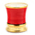 Napoli TOMATO LEAF Scented Candle - Deluxe Precious Cup Coloris Red Design with Pure Gold Rim (10 Oz)