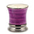 Venetian LAVENDER Scented Candle - Deluxe Precious Cup Coloris Purple Design with Pure Platinum Rim