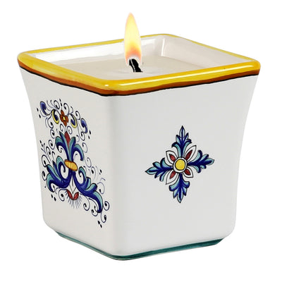 DERUTA CANDLES: Square FlaredCandle Ricco Deruta Design