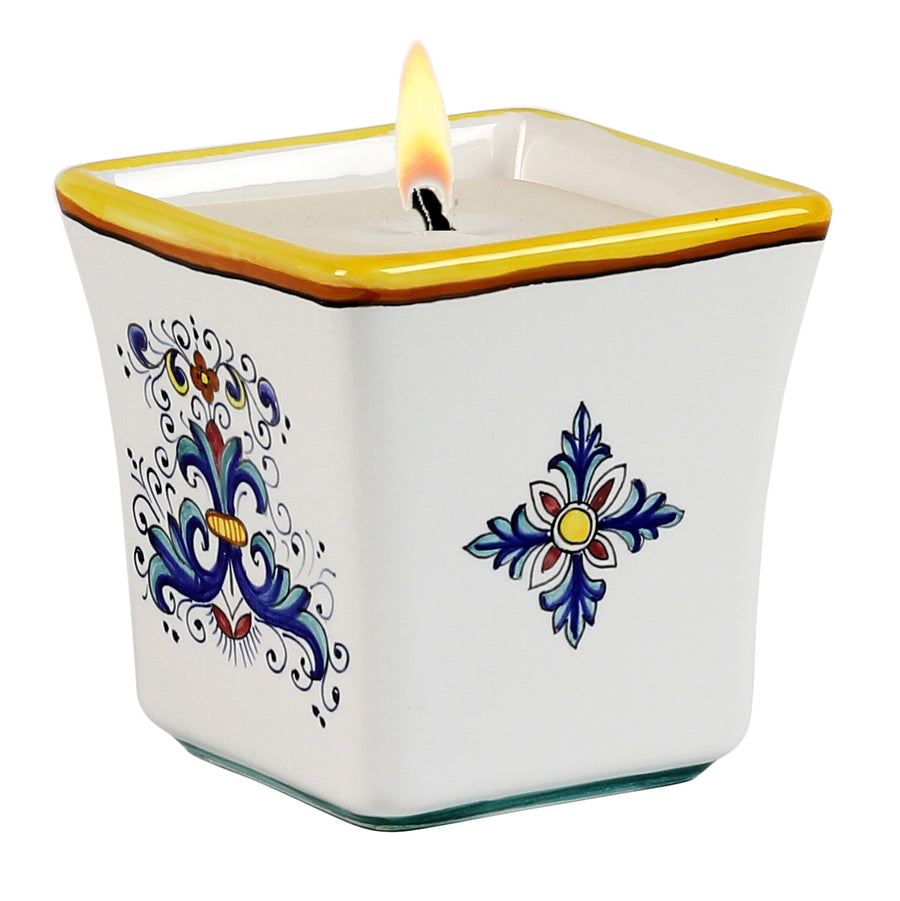 Square Flared Candle Ricco Deruta Design