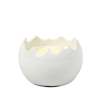 PURITY SPA CANDLE: Sphera Candle fluted rim pure White (Small)