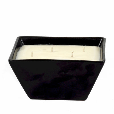 PURITY SPA CANDLE: Square Candle 4/wicks pure Black
