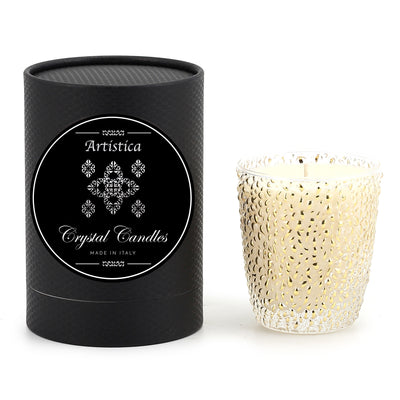 CRYSTAL CANDLES: Oro bump glass ~ (9 Oz)