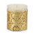 CRYSTAL CANDLES: Arabesque Design with Gold Leaf finish - (10 Oz)