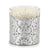 CRYSTAL CANDLES: Arabesque Design with Silver Leaf finish ~ (10 Oz)