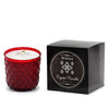 CRYSTAL CANDLES: Net Glass Design Candle ~ RED (10 Oz)