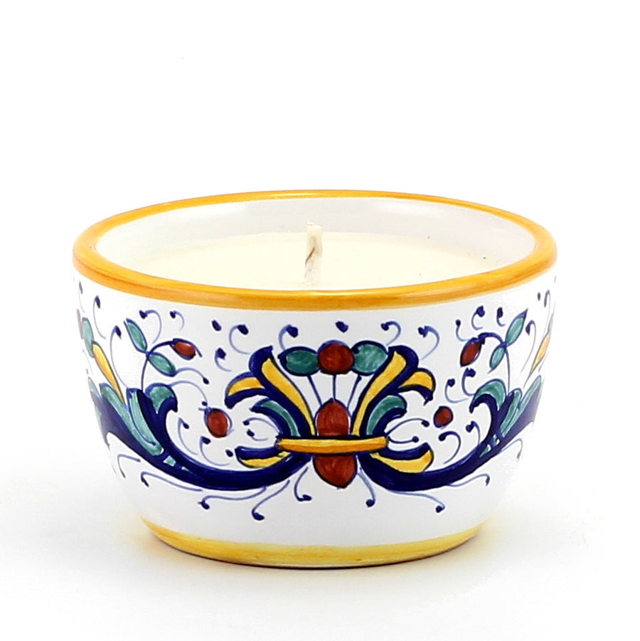 Jar Deruta Ceramic Candle with lid ~ Ricco Deruta Design