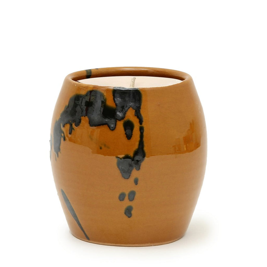 MONDIAL CANDLES: Ceramic Container Cup Candle Rustic Tuscan Line