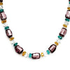 MURANO MURRINA: Hand Blown Murano Glass Necklace Asola - PURPLE