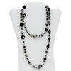 MURANO MURRINA: Hand Blown Murano Glass Necklace Giuditta - BLACK/GRAY