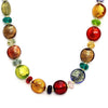 MURANO MURRINA: Hand Blown Murano Glass Necklace Clara - MULTICOLOR