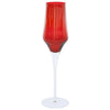 VIETRI: Contessa Red Champagne Glass