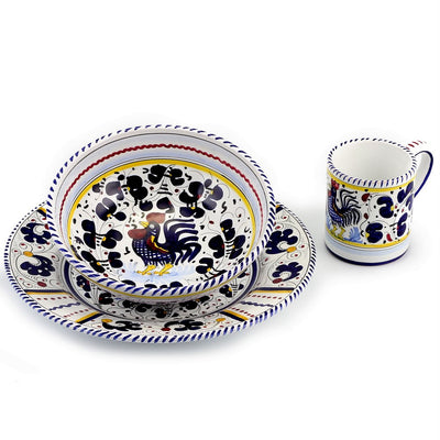 ORVIETO BLUE ROOSTER: Pre Pack Dinner and Coupe Bowl and Mug
