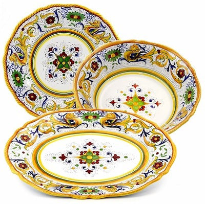 RAFFAELLESCO DELUXE: Serving Set Charger and Salad Pasta Bowl and Oval Platter