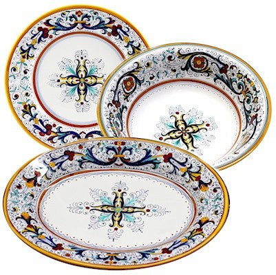 RICCO DERUTA DELUXE: Serving Set Charger and Salad Pasta Bowl and Oval Platter