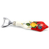 LIMONE FIORE: Bottle Opener (18 10 S Steel and Ceramic Handle) LEMON RED