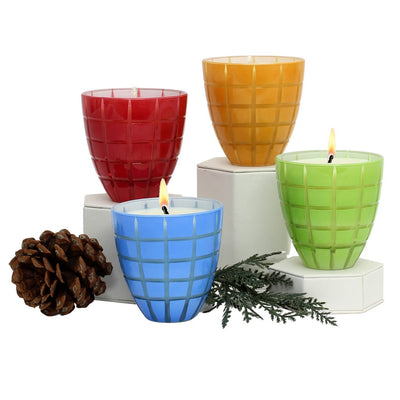 CRYSTAL CANDLES: Finestra Scents of the Season Assorted Glass Tumblers - SET OF 4